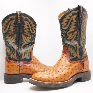 Ariat Tan Ostrich Leather 8B Western Boots